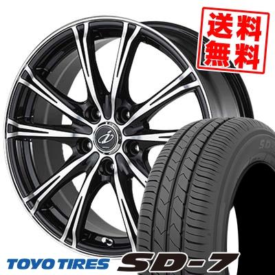 215/55R17 94V TOYO TIRES トーヨー タイヤ SD-7 エスディーセブン 5ZIGEN INPERIO X-5 5ジゲン インペリオ X-5 サマータイヤホイール4本セット