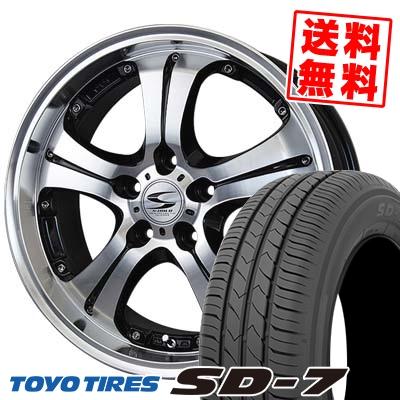215/50R17 91V TOYO TIRES トーヨー タイヤ SD-7 エスディーセブン BADX S-HOLD ANHELO バドックス エスホールド アネーロ サマータイヤホイール4本セット