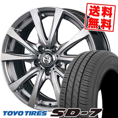 215/50R17 91V TOYO TIRES トーヨー タイヤ SD-7 エスディーセブン TRG-BAHN TRG バーン サマータイヤホイール4本セット【取付対象】