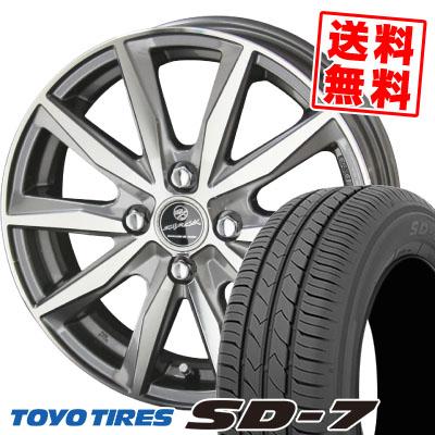 175/70R14 84S TOYO TIRES トーヨー タイヤ SD-7 エスディーセブン SMACK BASALT スマック バサルト サマータイヤホイール4本セット