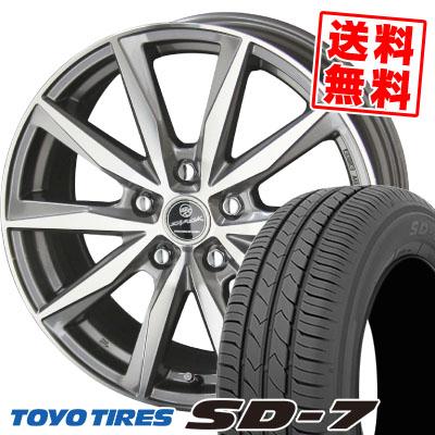 195/65R15 91H TOYO TIRES トーヨー タイヤ SD-7 エスディーセブン SMACK BASALT スマック バサルト サマータイヤホイール4本セット