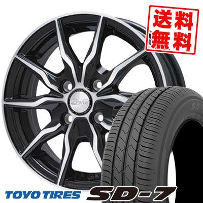 185/70R14 88S TOYO TIRES トーヨー タイヤ SD-7 エスディーセブン B-win KRX B-win KRX サマータイヤホイール4本セット