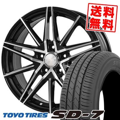 205/60R16 92H TOYO TIRES トーヨー タイヤ SD-7 エスディーセブン BLONKS TB01 ブロンクス TB01 サマータイヤホイール4本セット