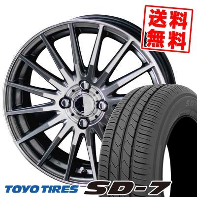 175/65R14 82S TOYO TIRES トーヨー タイヤ SD-7 エスディーセブン CIRCLAR VERSION DF サーキュラー バージョン DF サマータイヤホイール4本セット