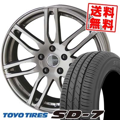 225/45R18 91W TOYO TIRES トーヨー タイヤ SD-7 エスディーセブン ENKEI CREATIVE DIRECTION CDS2 エンケイ クリエイティブ ディレクション CD-S2 サマータイヤホイール4本セット