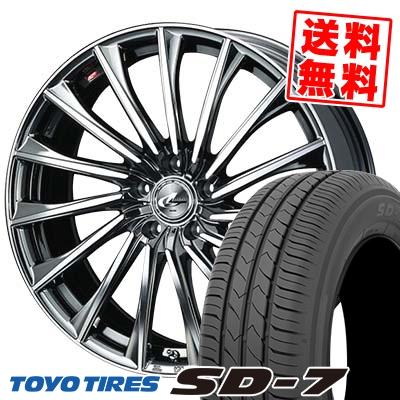 215/50R17 91V TOYO TIRES トーヨー タイヤ SD-7 エスディーセブン WEDS LEONIS CH ウェッズ レオニス CH サマータイヤホイール4本セット