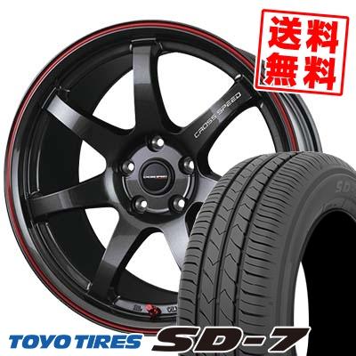 225/45R18 91W TOYO TIRES トーヨー タイヤ SD-7 エスディーセブン CROSS SPEED HYPER EDITION CR7 クロススピード ハイパーエディション CR7 サマータイヤホイール4本セット