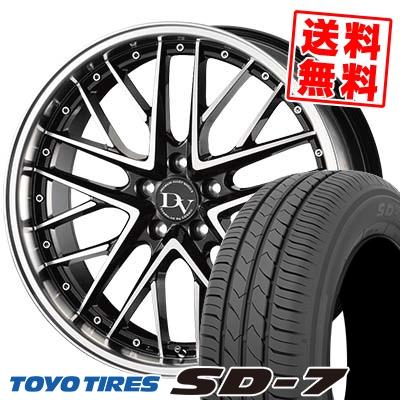 215/50R17 91V TOYO TIRES トーヨー タイヤ SD-7 エスディーセブン DIAVOLETTO DELIE ディアヴォレット デェリエ サマータイヤホイール4本セット