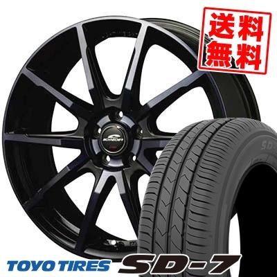 215/55R17 94V TOYO TIRES トーヨー タイヤ SD-7 エスディーセブン SCHNEIDER DR-01 シュナイダー DR-01 サマータイヤホイール4本セット