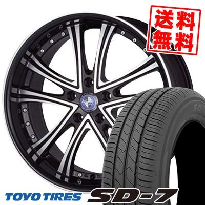 215/55R17 94V TOYO TIRES トーヨー タイヤ SD-7 エスディーセブン Warwic DS.05 ワーウィック DS.05 サマータイヤホイール4本セット