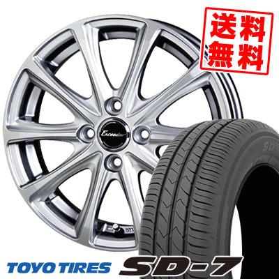 185/70R14 88S TOYO TIRES トーヨー タイヤ SD-7 エスディーセブン Exceeder E04 エクシーダー E04 サマータイヤホイール4本セット