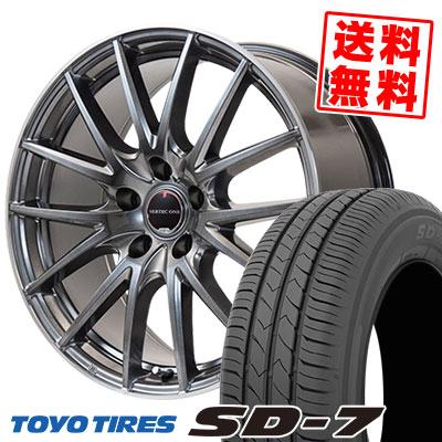 225/45R18 91W TOYO TIRES トーヨー タイヤ SD-7 エスディーセブン VERTEC ONE Eins.1 ヴァーテック ワン アインス ワン サマータイヤホイール4本セット