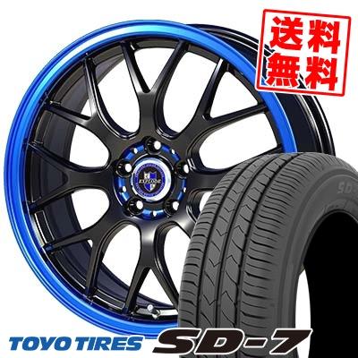 215/55R17 94V TOYO TIRES トーヨー タイヤ SD-7 エスディーセブン EXPLODE-RBM エクスプラウド RBM サマータイヤホイール4本セット