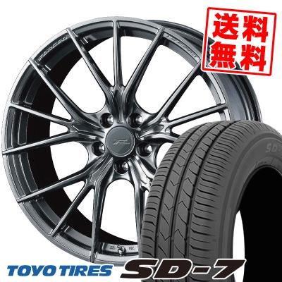 225/45R18 91W TOYO TIRES トーヨー タイヤ SD-7 エスディーセブン WEDS F ZERO FZ-1 ウェッズ エフゼロ FZ-1 サマータイヤホイール4本セット