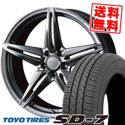 225/45R18 91W TOYO TIRES トーヨー タイヤ SD-7 エスディーセブン WEDS F ZERO FZ-3 ウェッズ エフゼロ FZ-3 サマータイヤホイール4本セット【取付対象】