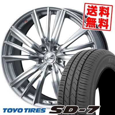 215/50R17 91V TOYO TIRES トーヨー タイヤ SD-7 エスディーセブン weds LEONIS FY ウェッズ レオニス FY サマータイヤホイール4本セット