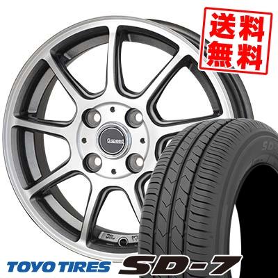 185/70R14 88S TOYO TIRES トーヨー タイヤ SD-7 エスディーセブン G.Speed P-01 Gスピード P-01 サマータイヤホイール4本セット