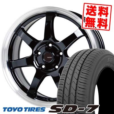 195/65R15 91H TOYO TIRES トーヨー タイヤ SD-7 エスディーセブン G.speed P-03 ジースピード P-03 サマータイヤホイール4本セット【取付対象】