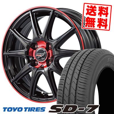 185/55R15 82V TOYO TIRES トーヨー タイヤ SD-7 エスディーセブン FINALSPEED GR-Volt ファイナルスピード GRボルト サマータイヤホイール4本セット