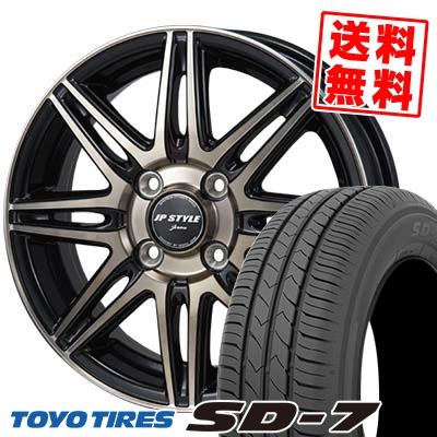 185/70R14 88S TOYO TIRES トーヨー タイヤ SD-7 エスディーセブン JP STYLE JERIVA JPスタイル ジェリバ サマータイヤホイール4本セット