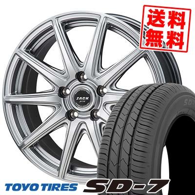 215/55R17 94V TOYO TIRES トーヨー タイヤ SD-7 エスディーセブン ZACK JP-710 ザック ジェイピー710 サマータイヤホイール4本セット