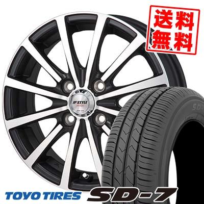 185/70R14 88S TOYO TIRES トーヨー タイヤ SD-7 エスディーセブン JP STYLE Shangly JPスタイル シャングリー サマータイヤホイール4本セット