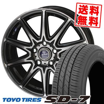215/55R17 94V TOYO TIRES トーヨー タイヤ SD-7 エスディーセブン SMACK LAVINE スマック ラヴィーネ サマータイヤホイール4本セット