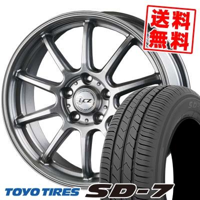 195/65R15 91H TOYO TIRES トーヨー タイヤ SD-7 エスディーセブン LCZ010 LCZ010 サマータイヤホイール4本セット