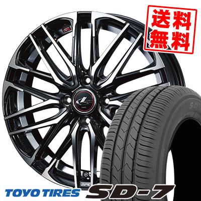 175/70R14 84S TOYO TIRES トーヨー タイヤ SD-7 エスディーセブン WEDS LEONIS SK ウェッズ レオニス SK サマータイヤホイール4本セット