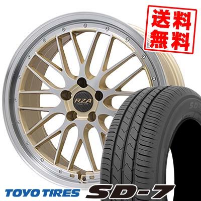 215/55R17 94V TOYO TIRES トーヨー タイヤ SD-7 エスディーセブン Leycross REZERVA レイクロス レゼルヴァ サマータイヤホイール4本セット