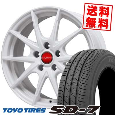 215/60R16 95H TOYO TIRES トーヨー タイヤ SD-7 エスディーセブン LeyBahn WGS レイバーン WGS サマータイヤホイール4本セット