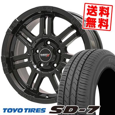 215/45R17 87W TOYO TIRES トーヨー タイヤ SD-7 エスディーセブン B-MUD X Bマッド エックス サマータイヤホイール4本セット