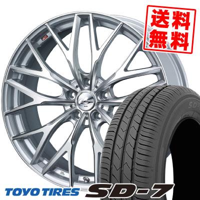 215/50R17 91V TOYO TIRES トーヨー タイヤ SD-7 エスディーセブン weds LEONIS MX ウェッズ レオニス MX サマータイヤホイール4本セット