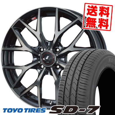 175/65R15 84S TOYO TIRES トーヨー タイヤ SD-7 エスディーセブン weds LEONIS MX ウェッズ レオニス MX サマータイヤホイール4本セット【取付対象】
