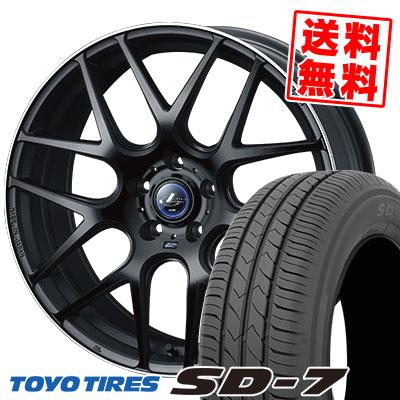 215/50R17 91V TOYO TIRES トーヨー タイヤ SD-7 エスディーセブン WEDS LEONIS NAVIA06 ウェッズ レオニス ナヴィア06 サマータイヤホイール4本セット