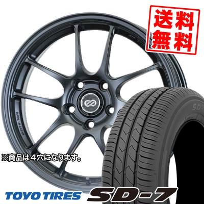 185/60R15 84H TOYO TIRES トーヨー タイヤ SD-7 エスディーセブン ENKEI PerformanceLine PF-01 エンケイ パフォーマンスライン PF01 サマータイヤホイール4本セット