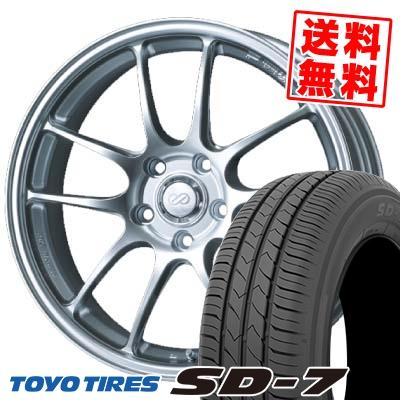 215/50R17 91V TOYO TIRES トーヨー タイヤ SD-7 エスディーセブン ENKEI PerformanceLine PF-01 エンケイ パフォーマンスライン PF01 サマータイヤホイール4本セット