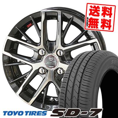 185/60R15 84H TOYO TIRES トーヨー タイヤ SD-7 エスディーセブン SMACK REVILA スマック レヴィラ サマータイヤホイール4本セット