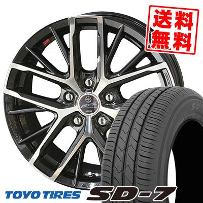 215/45R17 87W TOYO TIRES トーヨー タイヤ SD-7 エスディーセブン SMACK REVILA スマック レヴィラ サマータイヤホイール4本セット