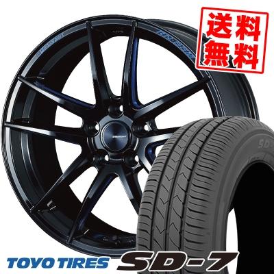 225/45R18 91W TOYO TIRES トーヨー タイヤ SD-7 エスディーセブン WedsSport RN-55M ウェッズスポーツ RN-55M サマータイヤホイール4本セット