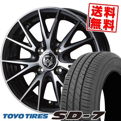 185/70R14 88S TOYO TIRES トーヨー タイヤ SD-7 エスディーセブン WEDS RIZLEY VS ウェッズ ライツレー VS サマータイヤホイール4本セット