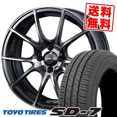 185/55R15 82V TOYO TIRES トーヨー タイヤ SD-7 エスディーセブン wedsSport SA-10R ウエッズスポーツ SA10R サマータイヤホイール4本セット