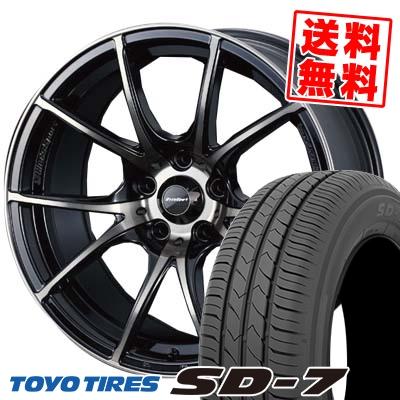 215/55R17 94V TOYO TIRES トーヨー タイヤ SD-7 エスディーセブン wedsSport SA-10R ウエッズスポーツ SA10R サマータイヤホイール4本セット