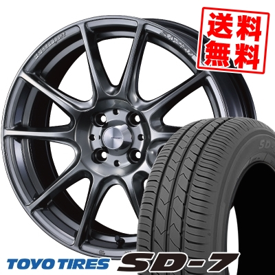 175/60R16 82H TOYO TIRES トーヨー タイヤ SD-7 エスディーセブン WedsSport SA-25R ウェッズスポーツ SA-25R サマータイヤホイール4本セット