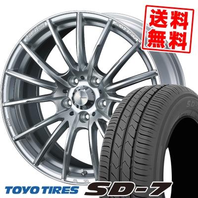215/55R17 94V TOYO TIRES トーヨー タイヤ SD-7 エスディーセブン WedsSport SA-35R ウェッズスポーツ SA-35R サマータイヤホイール4本セット【取付対象】