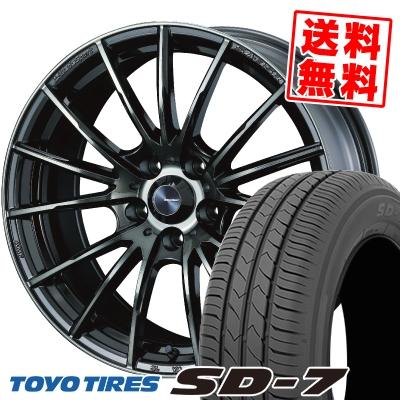 215/50R17 91V TOYO TIRES トーヨー タイヤ SD-7 エスディーセブン WedsSport SA-35R ウェッズスポーツ SA-35R サマータイヤホイール4本セット【取付対象】
