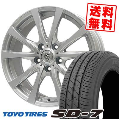 215/50R17 91V TOYO TIRES トーヨー タイヤ SD-7 エスディーセブン TRG-SILBAHN TRG シルバーン サマータイヤホイール4本セット