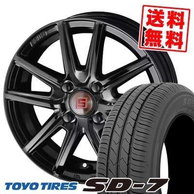 185/70R14 88S TOYO TIRES トーヨー タイヤ SD-7 エスディーセブン SEIN SS BLACK EDITION ザイン エスエス ブラックエディション サマータイヤホイール4本セット