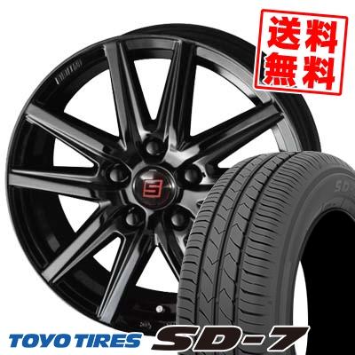 215/50R17 91V TOYO TIRES トーヨー タイヤ SD-7 エスディーセブン SEIN SS BLACK EDITION ザイン エスエス ブラックエディション サマータイヤホイール4本セット