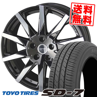 215/50R17 91V TOYO TIRES トーヨー タイヤ SD-7 エスディーセブン SMACK SFIDA スマック スフィーダ サマータイヤホイール4本セット